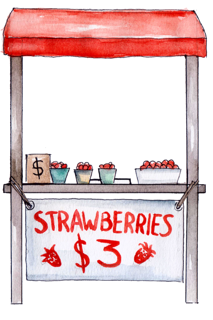 Blog Image Selling Strawberries Stand 1