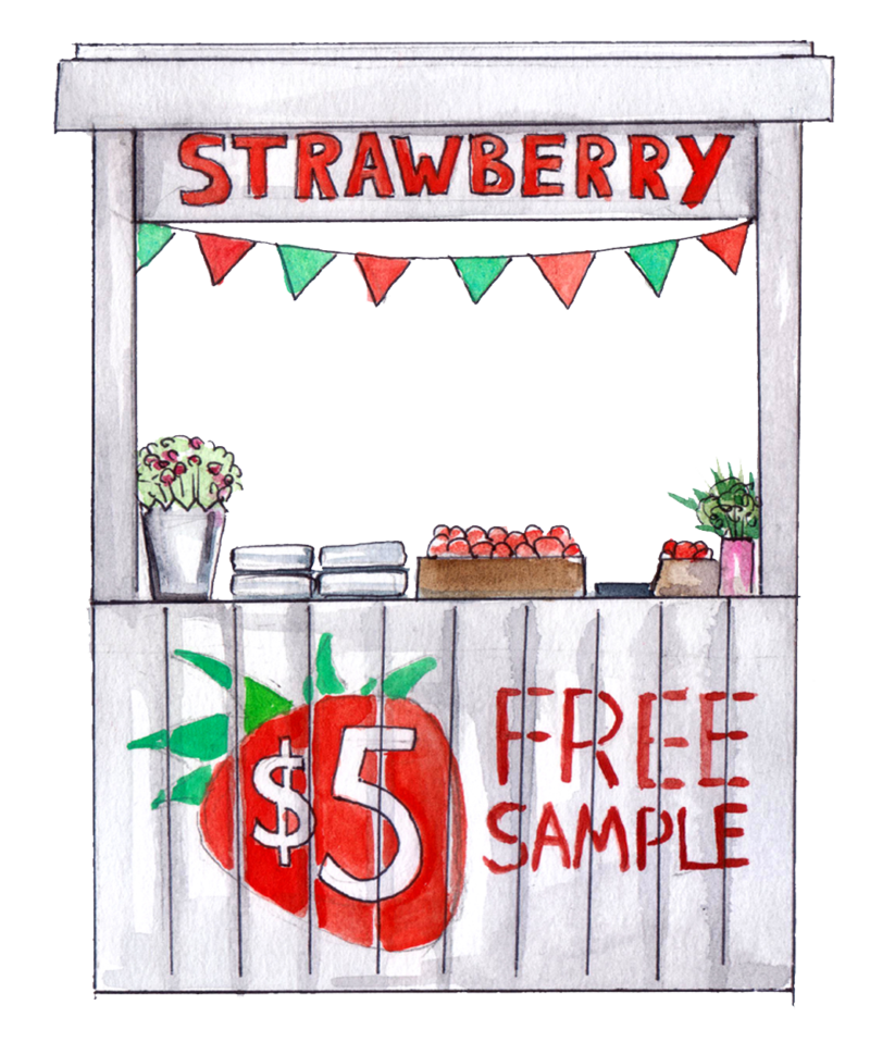 Blog Image Selling Strawberries Stand 2