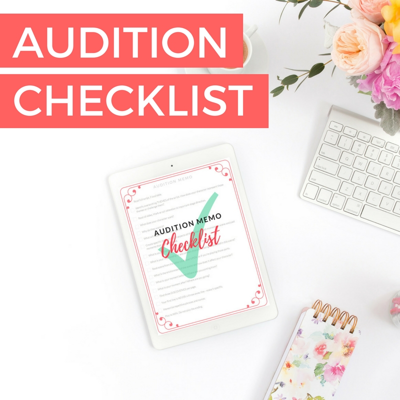 Audition Checklist